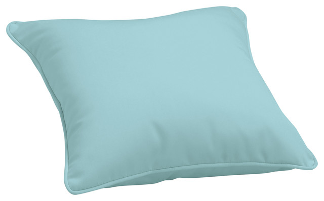 Sunbrella Throw Pillow, Mineral Blue