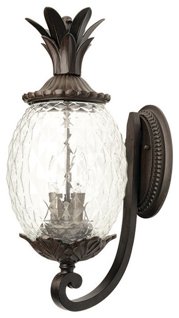 Lanai Collection Wall-Mount 2-Light Outdoor Light, Black Coral.