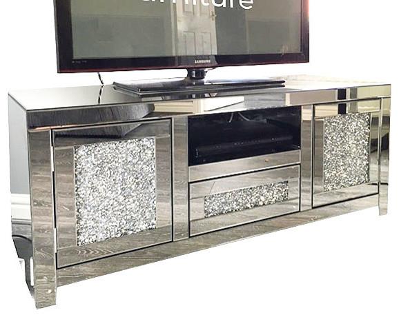Luxury Mirrored TV Cabinet - Contemporary - Entertainment ...