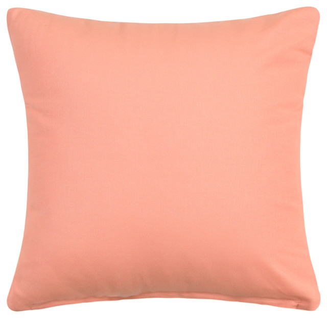 Solid Apricot Pale Peach Accent Throw Pillow Cover 16 X16
