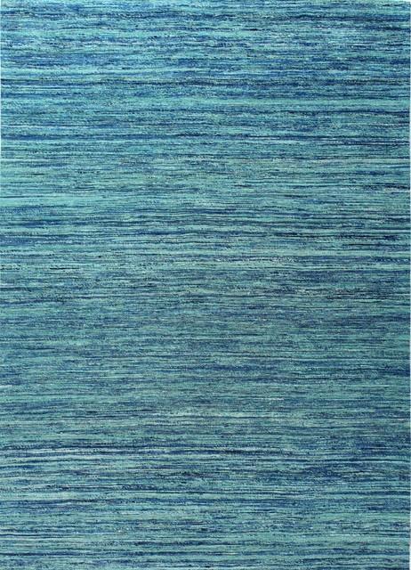 Bashian Whitney Area Rug, Blue/Blue, 5u0027x7u0027 Contemporary Area