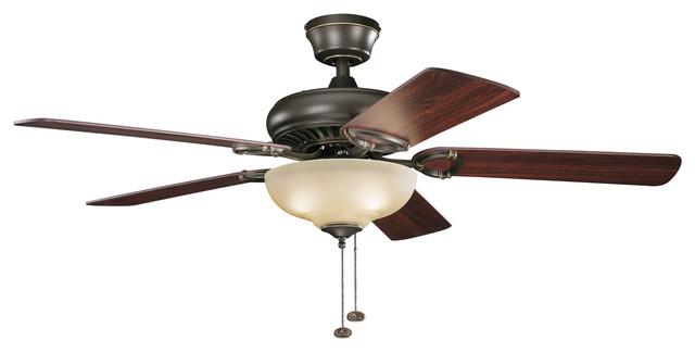 """52"""" Ceiling Fan, Olde Bronze/umber Etched"""