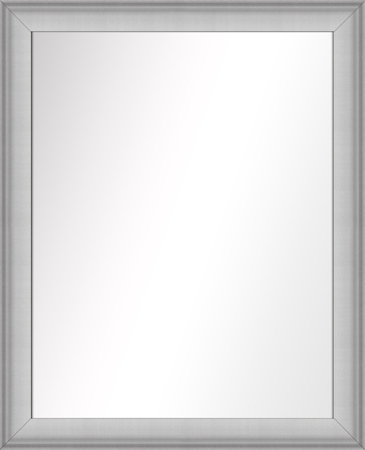 Over The Sink Vanity Mirror, Stainless Silver, 25.5x31.5.