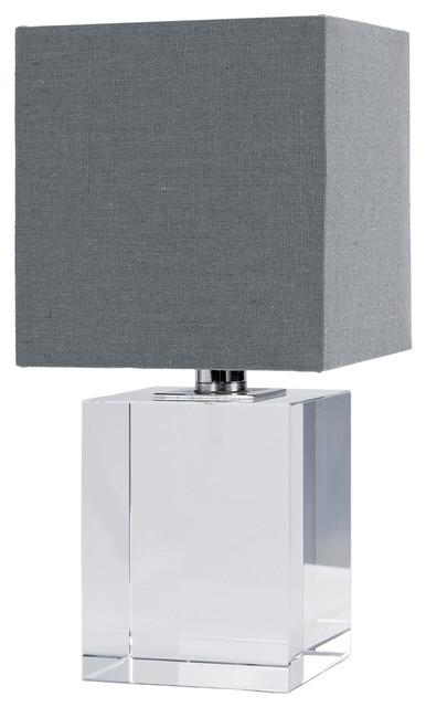 Renn Modern Cube Crystal Mini Table Lamp
