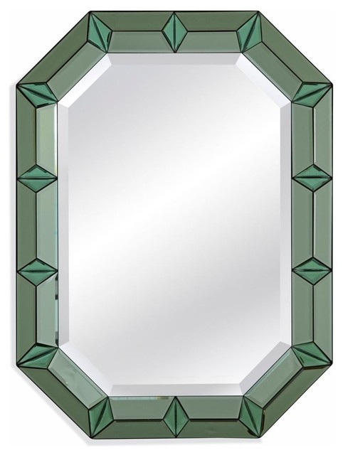 Basset Mirror Company Emerald Wall Mirror Contemporary Wall Mirrors By Unlimited Furniture