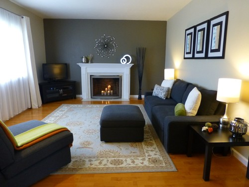 The Before Of This Living Room Is Just A Plain Bland Old Looking Lacking Everything Except Good Place To Start Huge DIY Project
