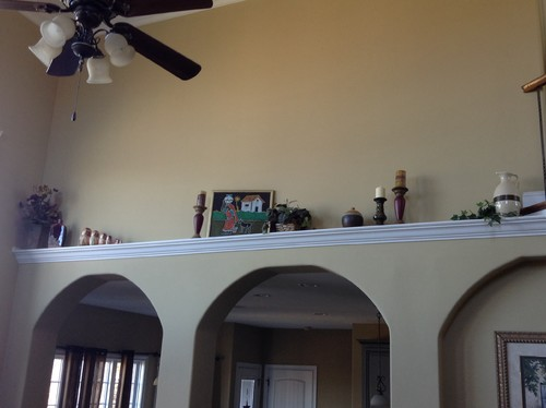 Need Advice--decorating High Plant Shelf In Family Room