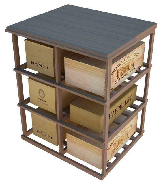 Tivioli Wine Storage Table, Unfinished Mahogany.