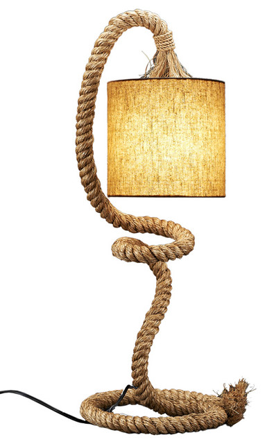 Shop Houzz Natural Design House Rope Table Lamp Table