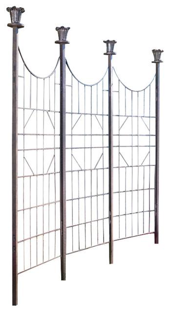 Large Iron Garden Trellis Screen, Patio Screen Fence.