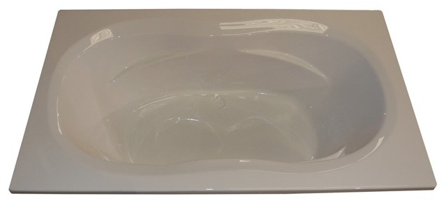 American Acrylic And Injection Armrest Drop-In Soaking Tub, Biscuit.