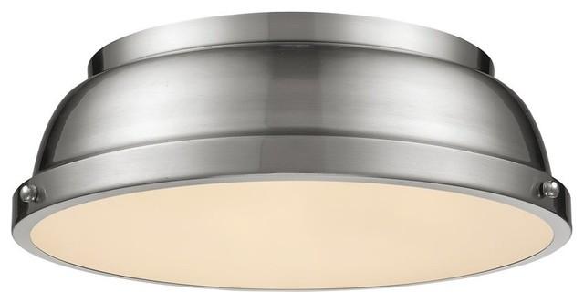 Golden Lighting Duncan Flush Mount, Pewter, 3602-14pw-Pw.