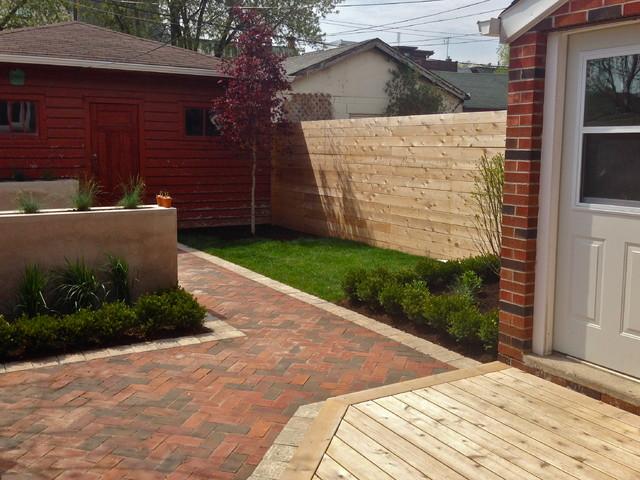 Toronto Annex Backyard Landscape Design transitional