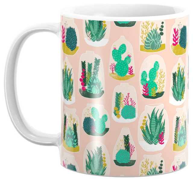 Society6 Terrariums Cute Little Planters For Succulents in Repeat Pat Mug