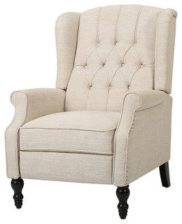 Elizabeth Tufted Back Recliner   Transitional   Recliner Chairs   By  GDFStudio