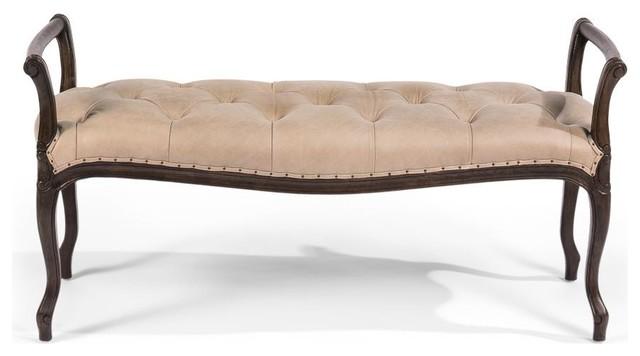 Vivian Bench, Verdeca Ash Leather.
