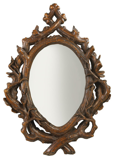 Twig Oval Bevel Mirror Rustic Wall Mirrors By