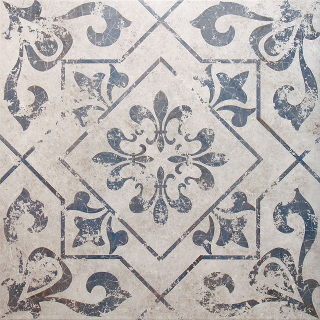 Antique Vintage Blue Floor Tiles, 1 m2