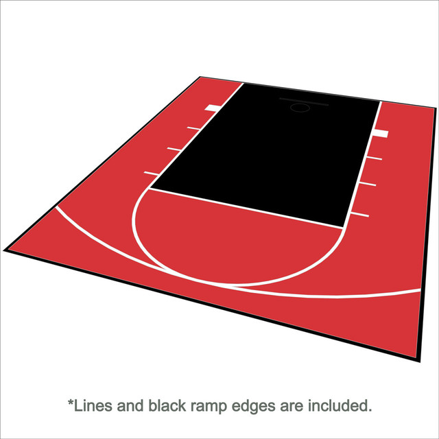 Outdoor Basketball Half Court Kit 20ft X 24ft -Lines And