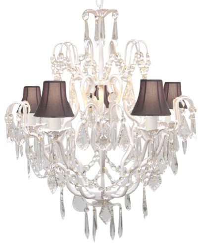 Shop Houzz – Crystal Chandelier with Shades