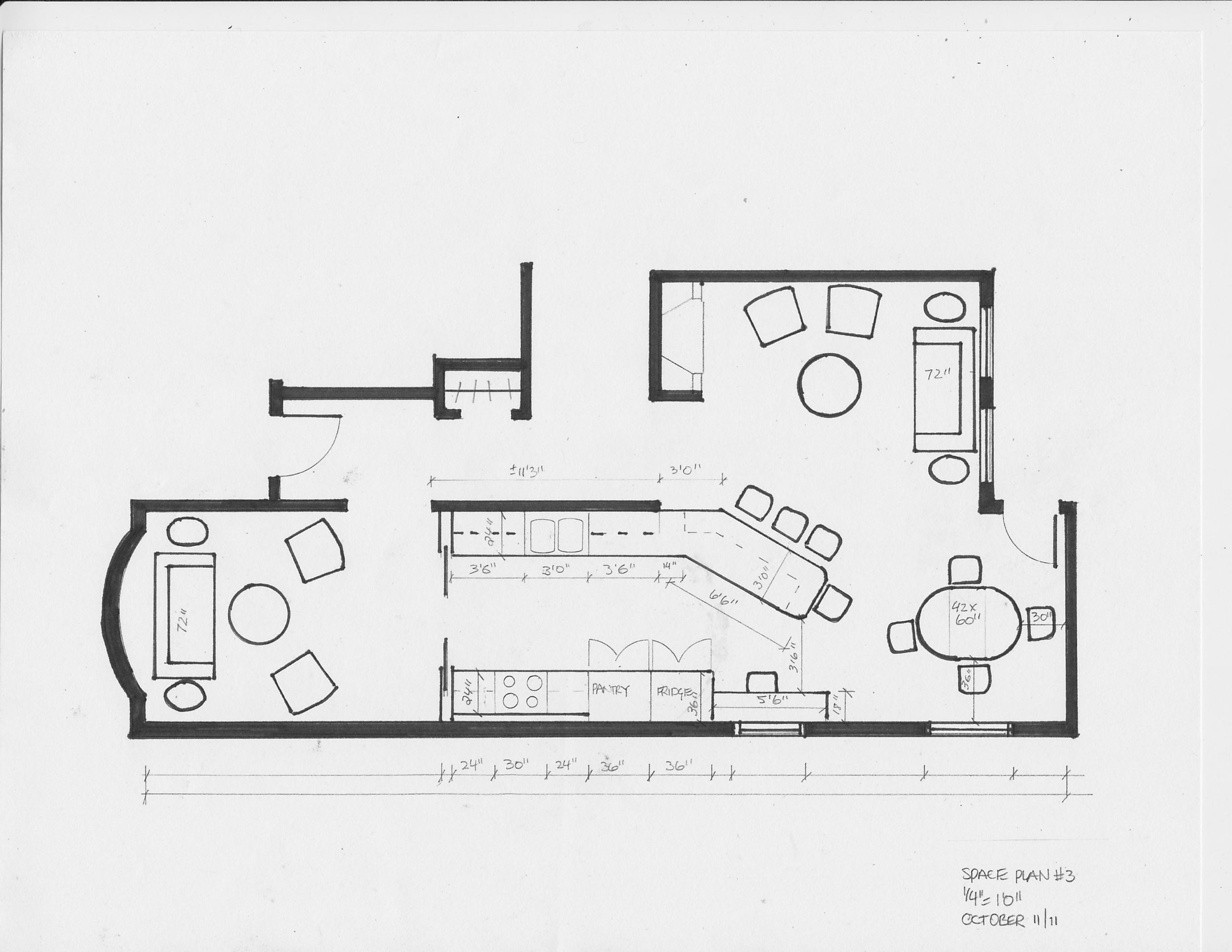 residential space plans- kingston main floor space plan