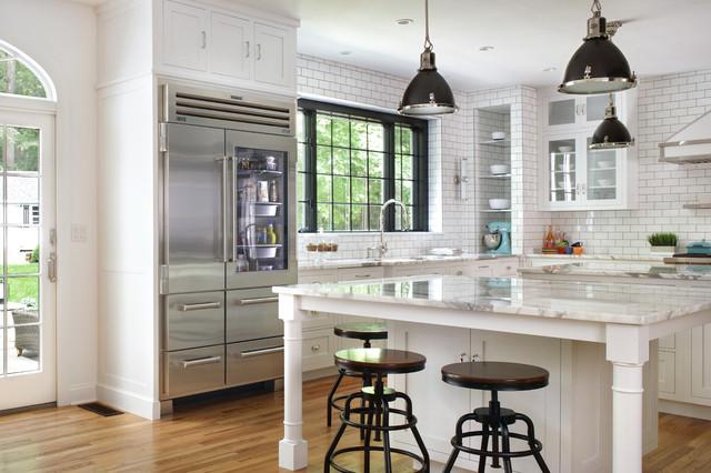 Parisian patisserie inspired kitchen