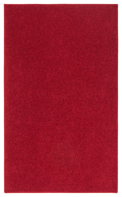 Ourspace Bright Area Rug, 7&x27;x10&x27;, Magna Red.