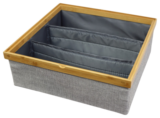 Twill Stackable Storage Tray, 3 Dividers.