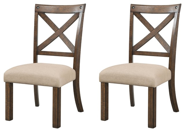 Francis X-Back Wooden Side Chair Set.