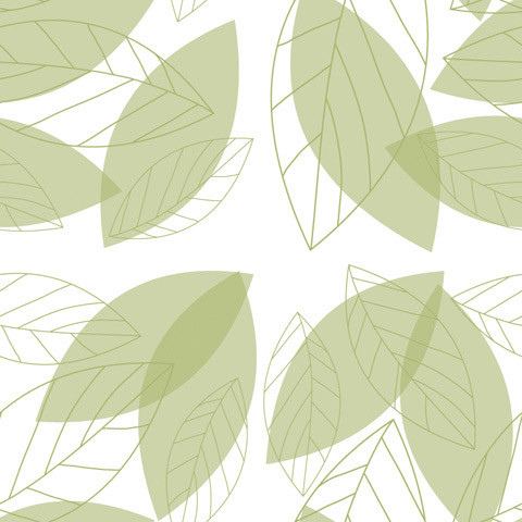 Simple Green Leaves Shelf Paper Drawer Liner, 120x12, Laminated Vinyl