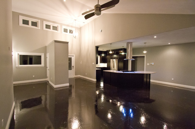 black stained concrete floors. Stained Concrete Floors contemporary  Contemporary Other by Millroi