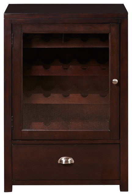 Transitional wine cabinet transitional accent chests for Baroque 2 door accent cabinet