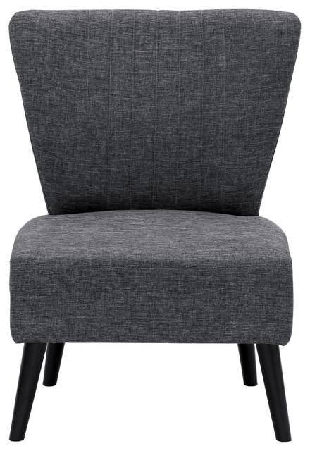Furinno Euro Modern Armless Fabric Accent Chair