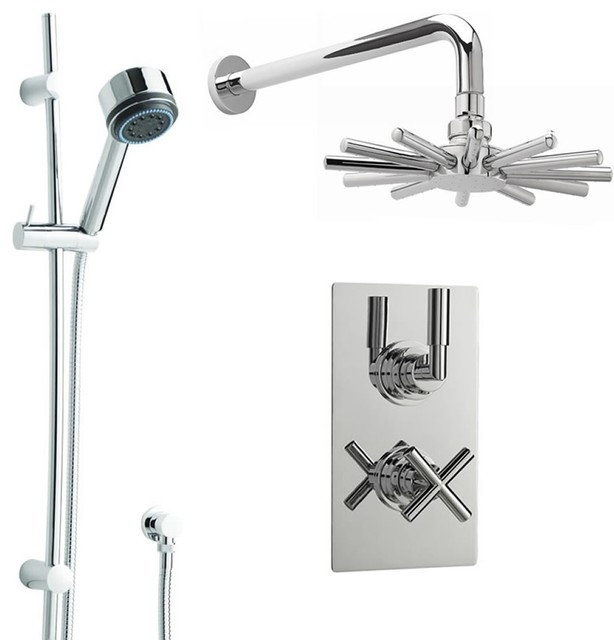 new helix dual shower system with chrome cloudburst rain head rail kit u0026 handset tub