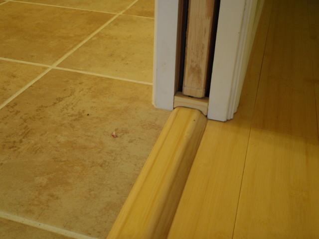 Pocket door transition strip & Pocket door transition strip - Seattle - by Weeks Custom Carpentry