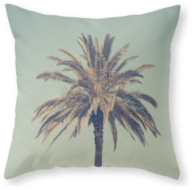 Retro Palm Tree Pillow Cover - Tropical - Decorative Pillows - by Society6