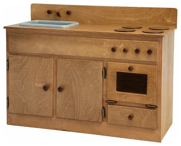 Amish Waldorf Oak Toy Kitchen Contemporary Kids Toys