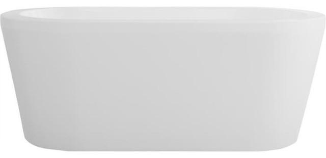 "60""x32"" Amaze Freestanding Oval Acrylic Bathtub, Rouge-Air."