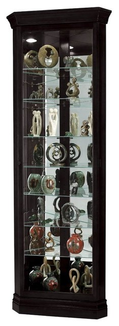 Corner Curio Cabinet With Beveled Glass Door - Traditional - China ...