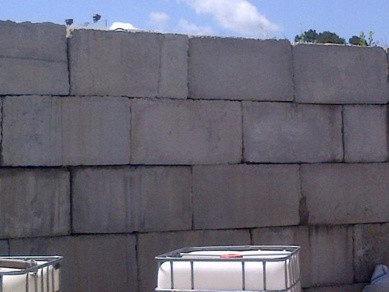Ugly Concrete Retaining Blocks