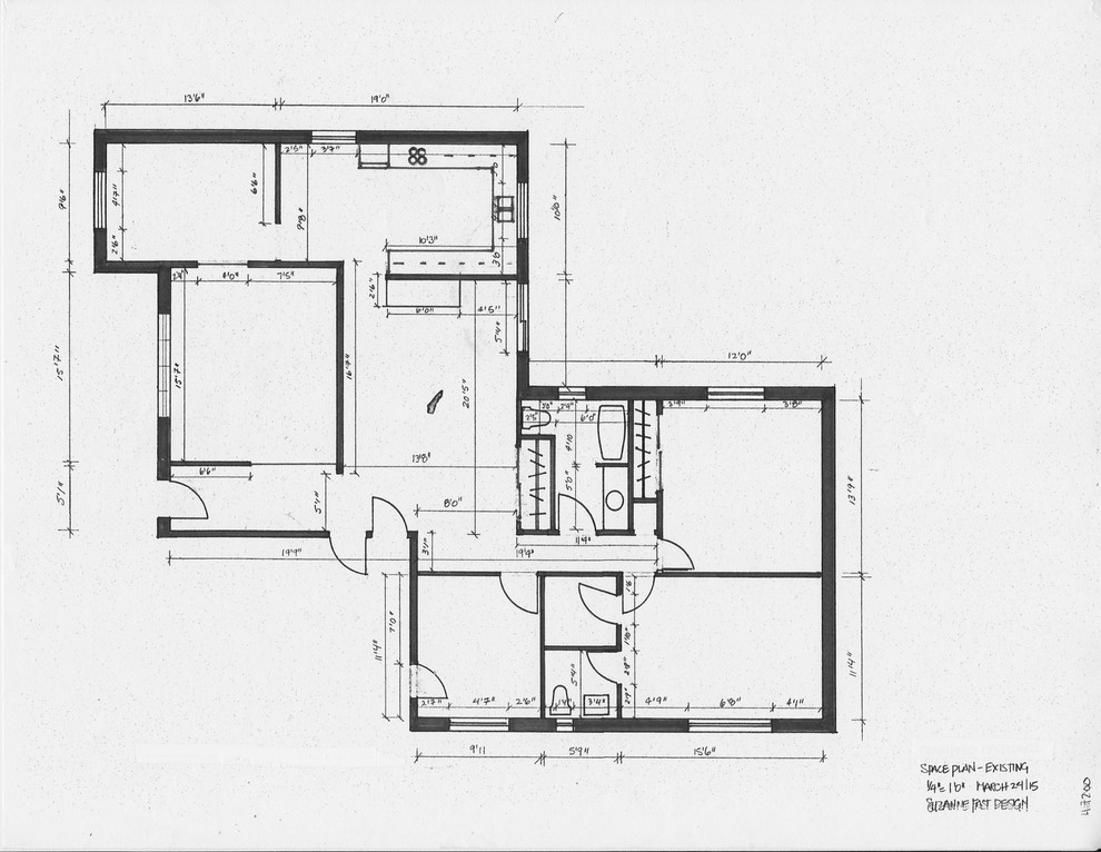 residential space plans- before