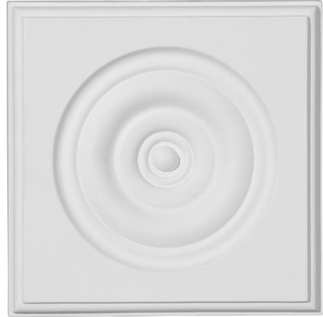 "Traditional Bullseye Plinth Block, 5 3/4""w X 5 3/4""h X 1 1/8""p."