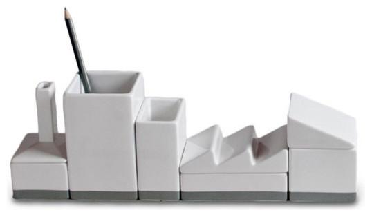 Contemporary Modern Desk Organizers Desktructure Porcelain Organizer Moderndeskaccessories E Intended Design Decorating
