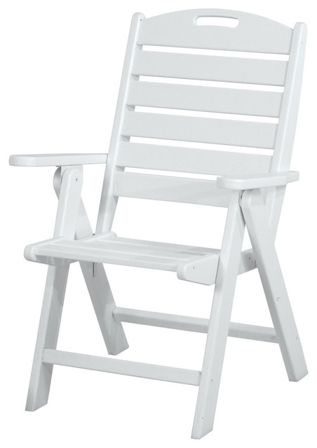 Wondrous Polywood Nautical Highback Chair White Onthecornerstone Fun Painted Chair Ideas Images Onthecornerstoneorg