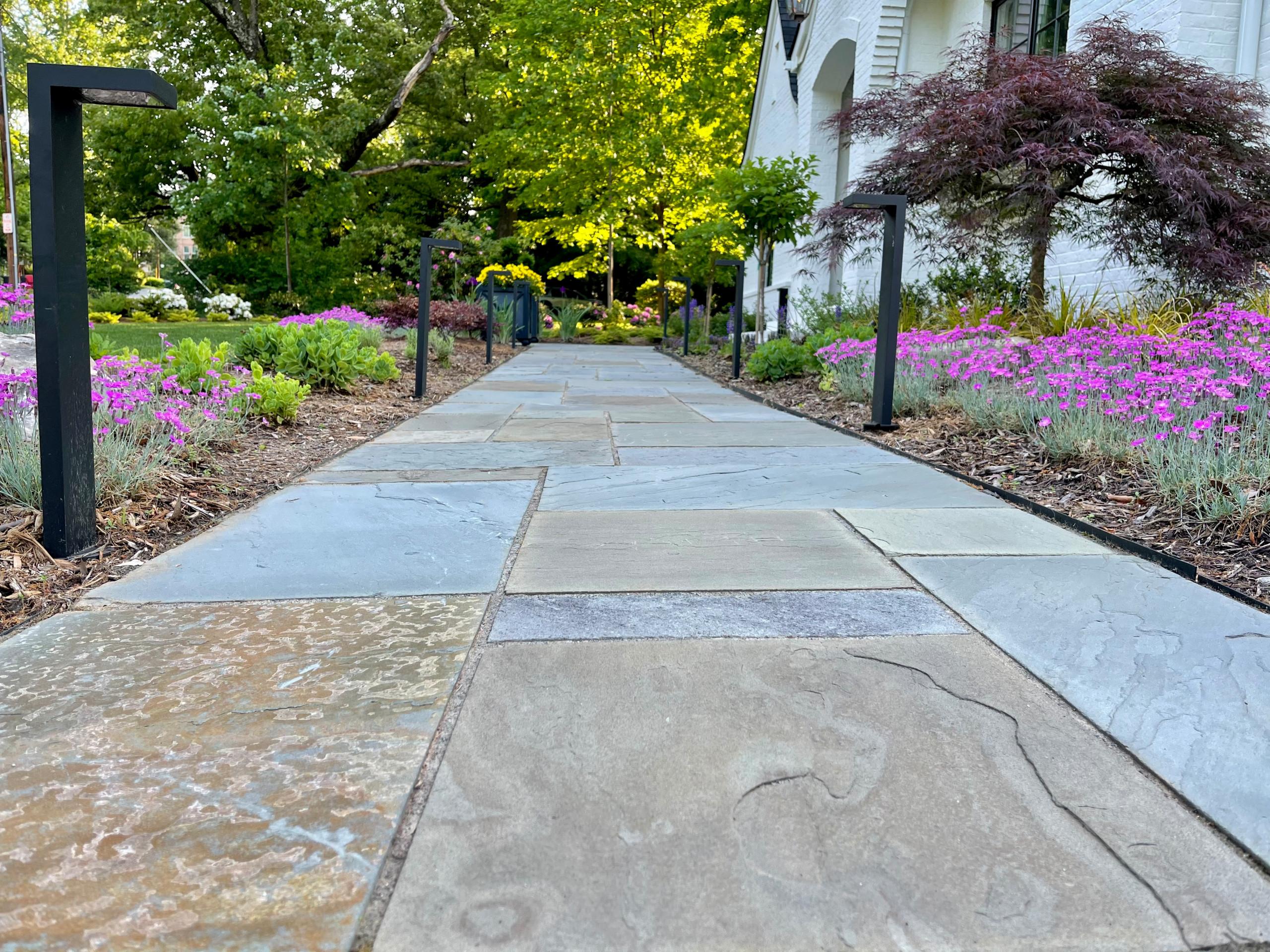 Bluestone walkway.