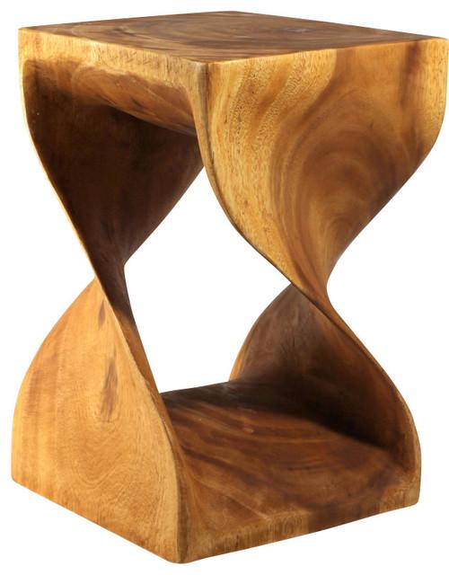 Twist Table 12x18 Golden Oak