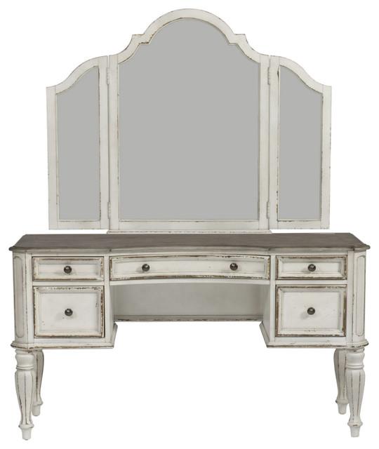Magnolia Manor Vanity Desk And Mirror