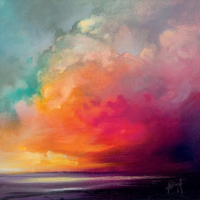 """Sunset Cumulus Study 1"" Printed Canvas by Scott Naismith, 40x40 Cm"