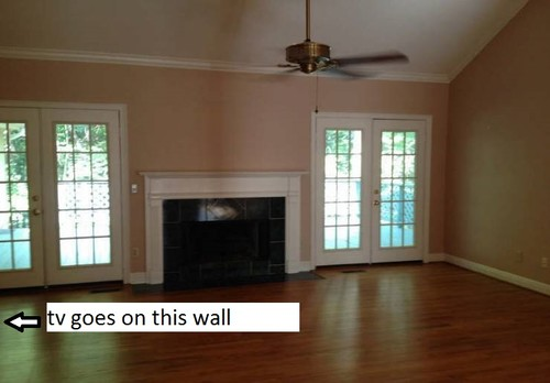 How To Arrange Living Room Seating Fireplace TV On 2 Walls