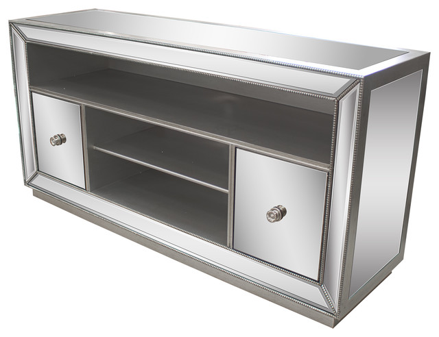 Jameson Mirrored Tv Stand Entertainment Centers And Tv Stands By